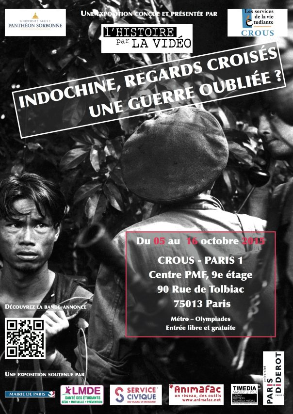 Affiche exposition – Indochine, regards croisés – Crous:P1
